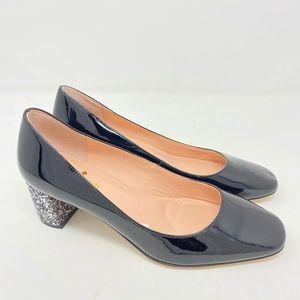 Kate Spade Shoes Serene Patent Silver Glitter Heel